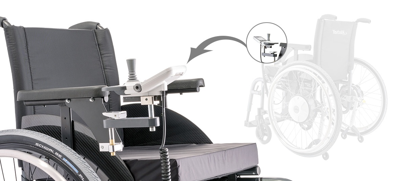 beweglich - Produkte Zusatzantrieb e-fix für Rollstühle