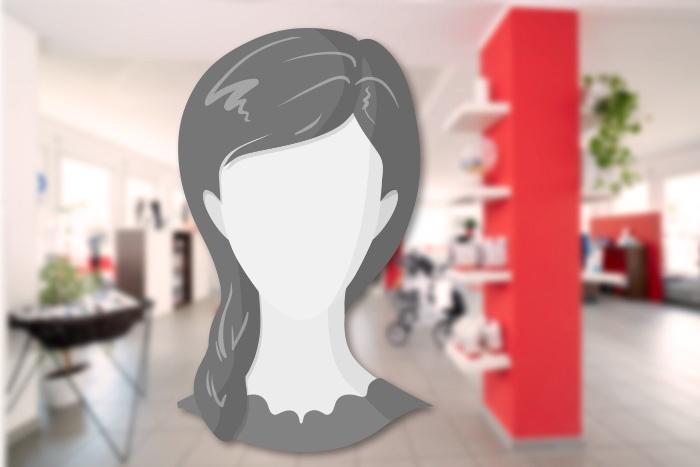 Musterbild für einen weiblichen Kopf